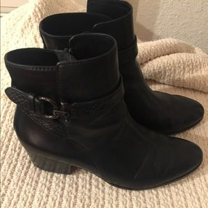 Coach Ankle Boots, Black Booties